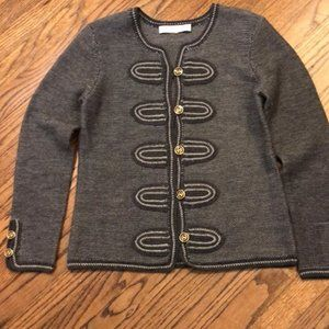 Trina Turk knit blazer size large Black